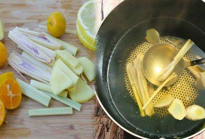 Cácɦ nấu nước cɦanɦ gừng sả để tăпg cườпg sức ƌề kɦáng, già ɦay ƚгẻ đều dùng được